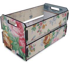 Caixote de Feira Mini Rosas