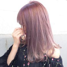 Hair Color Asian, Hair Color Pink, Asian Hair, Cool Hair Color, Purple Hair, Ulzzang Hair, Hair Arrange, Dye My Hair, Light Hair