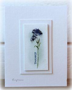 Long stemmed card inspiration. Rapport från ett skrivbord: Technique Tuesdays