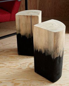 Dipped Wood Side Table from Urban Outfitters. Maybe to recreate in different colors. Has potential I could do this with wood from home and maybe a darker satin instead of the black to look more natural Wooden Furniture, Furniture Design, Smart Furniture, Modular Furniture, Furniture Vintage, French Furniture, Classic Furniture, Furniture Layout, Industrial Furniture