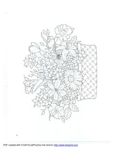 Dover - Floral Bouquets Coloring Book