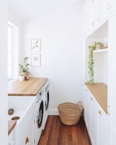 Laundry Room Inspiration, Home Decor Inspiration, Home Decor Ideas, Craft Ideas, Home Renovation, Home Remodeling, Dream Home Design, House Design, Modern Laundry Rooms