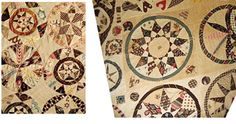 comparison of two antique quits 1805 vs 1860 English Paper Piecing, King George, Toss Pillows, Historian, Quilt Patterns, Applique, Old Things, Culture, Quilts