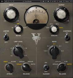 Modeled on the rich lush buss sound of the vintage 2254 hardware with its time constants and fixed nominal output gain, V-Comp packs the musical punch heard on countless hit records. Waves Plugins, Waves Audio, Virtual Studio, Music Software, Fast And Slow, Guide, Plugs, Musicals, Studio