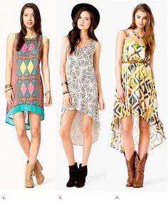 Western ladies summer dresses