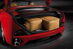 Ferrari California Trunk Open Luggage