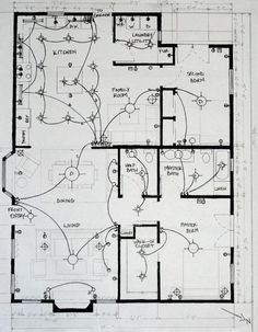 Home electrical wiring - The goal of this course was to learn about Lighting; types available, govt regulations for the state of Ca, and how to properly create a mechanical drawing, In this project we needed to meet both the Residential Electrical, Home Electrical Wiring, Electrical Symbols, Electrical Layout, Electrical Plan, Electrical Projects, Electrical Installation, Electrical Outlets, Home Lighting