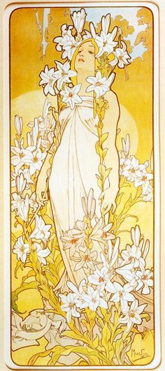 Alphonse Mucha: The Flowers Lily, 1898;