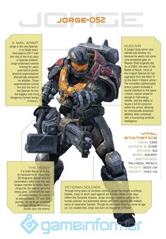 :: Jorge - Noble Team 4 - Halo Reach :: Some information about jorge Halo Spartan Armor, Halo Armor, Halo Quotes, Odst Halo, Science Fiction, John 117, Halo Master Chief, Halo Series, Halo Collection