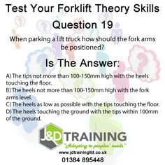 Forklift question of the day 19 from http://ift.tt/1HvuLik #forklift #training #safety #jobsearch