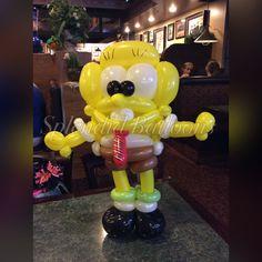 Balloon art, amazing, cool, party, splendid balloons, John Justice, cute, adorable, amazing, California, , sponge bob, pinnacle, under the sea, sponge, yellow, guy.