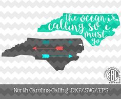 The Ocean is Calling/ Arrow North Carolina .DXF/.SVG/.EPS File for use with your Silhouette Studio Software