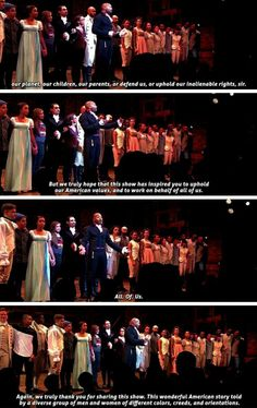 the Mike Pence post-show address. These people are so incredibly brave, and it makes me so proud