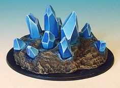 James Wappel Miniature Painting: A Little Crystal display... One could put real crystals in a faux dirt base.