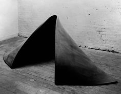 "Richard Serra, To Lift, 1967. Vulcanized rubber. 36"" x 6'8"" x 60 (91.4×200 × 152.4 cm). Collection of the artist"