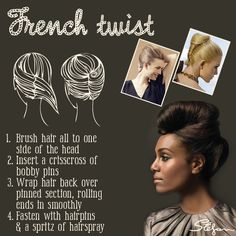how to french twist short hair | to a formal event? Why not style it up with a French Twist hair ...