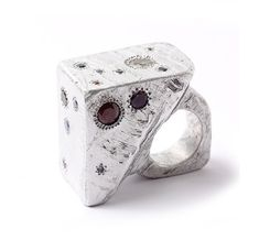 Ring 2012. Karl Fritsch - born 1963 in Germany, lives and works in New Zealand. Aluminum with precious stones