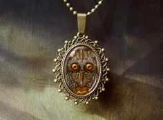 Steampunk Owl Goldy Locks. Bronze Pendant door WildBuzzJewellery