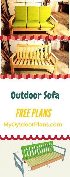 Outdoor Sofa Plans - Use my step by step instructions and build a simple wood sofa for your backyard! myoutdoorplans.com #diy #sofa