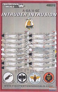 FTD48072 1:48 Fightertown Decals A-6A A-6E Intruder Intrusion