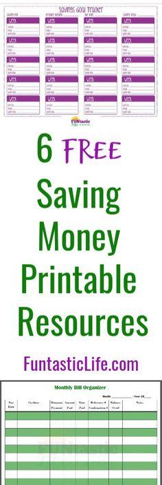 6 FREE Saving Money Printable Resources