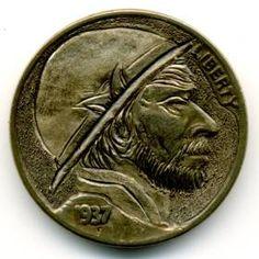 Steve Ellsworth - RobertoMontañas Hobo Nickel, Buffalo, Classic Style, Coins, Rooms, Water Buffalo