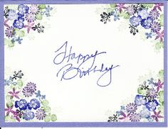 cards with tapestry stamps - Yahoo Image Search results - Faydalı Bitkiler Homemade Birthday Cards, Homemade Cards, Cardio Cards, Cards For Friends, Watercolor Cards, Flower Cards, Creative Cards, Greeting Cards Handmade, Diy Cards