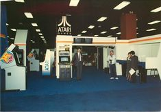 "Atari trade booth 1986. Thanks to @atariscott for the pic! #aracde #Atari #retrogaming #retro…"""
