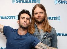 Guitarist James Valentine | adam levine and guitarist james valentine of maroon 5 visits at news ...