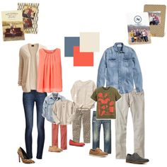 Get ideas and inspiration on what to wear for your family photos this year! #neutral