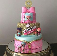 This stunning LOL Surprise Doll birthday cake was baked by Shop LOL Party Balloons Doll Birthday Cake, Funny Birthday Cakes, 6th Birthday Parties, Girl Birthday, Glitter Birthday Cake, Birthday Ideas, Bolo Fack, Lol Doll Cake, Surprise Cake
