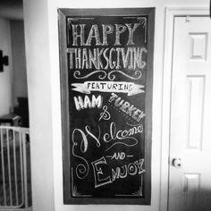 Chalkboard lettering thanksgiving