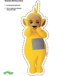 Cute laa-laa cut-out