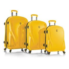 Heys Xcase 2G Spinner Citron Yellow3piece Luggage Set 100 Polycarbonate *** This is an Amazon Affiliate link. See this great product.