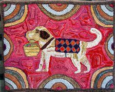 Untitled, wonderful hooked rug, Dick LaBarge