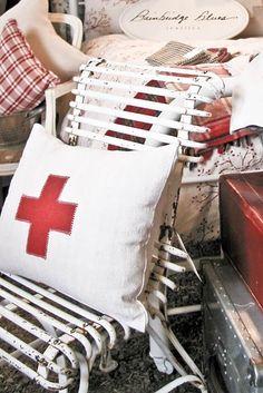 red cross pillow . . .