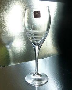 RCR Break Line Water Goblet Lead Crystal Stemware
