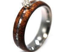 This is a Mahogany engement ring made from mahogany shavings