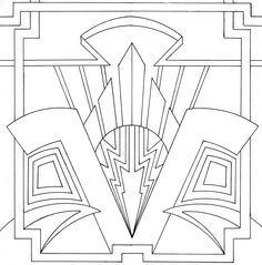 art deco patterns | ornamental art deco design by venomkold822 traditional art drawings ...