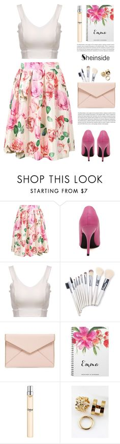 """Print midi skirt"" by yexyka ❤ liked on Polyvore featuring Rebecca Minkoff, Chloé and Sheinside"