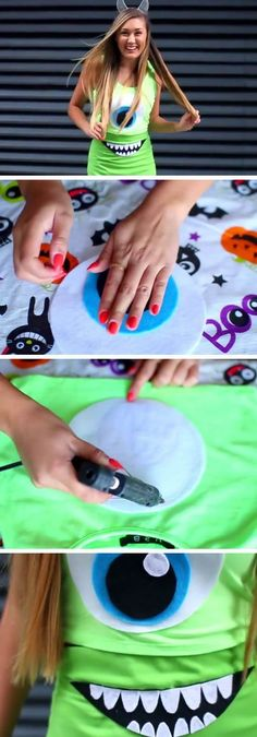 The Ultimate Disney Halloween Costume Collection - Deguisement - Halloween costumes diy Halloween Costumes For Teens Girls, Halloween Costumes For Girls, Family Halloween, Girl Costumes, Halloween Diy, Teen Costume Diy, Sully Costume Diy, Monsters Inc Halloween Costumes, Costume Ideas