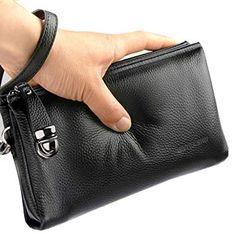 Men's Clutch Bag Handbags Genuine Leather Wallets Business Organizer Purse Rangren Men Clutch Bag, Man Purse, Leather Clutch, Purse Wallet, Leather Purses, Leather Men, Leather Wallets, Leather Bags, Leather Totes