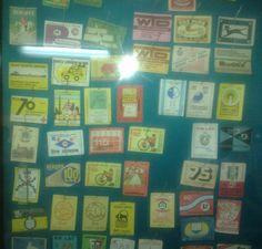 Etykiety z pudełeczek od zapałek - Muzeum zapałek w Częstochowie