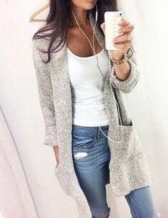 Long Sleeve Loose Knitting Cardigan
