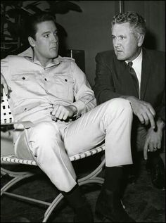 Elvis and Vernon on the 'Girl Happy' Set.