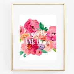 Enjoy the Little Things - Custom Home Art Prints
