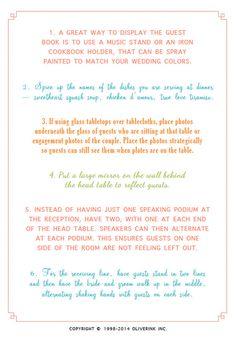 101 Wedding Reception Ideas by Oliverink on Etsy