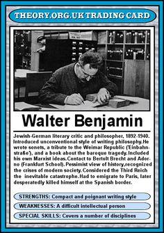 Walter Benjamin - Theory.org.uk trading cards