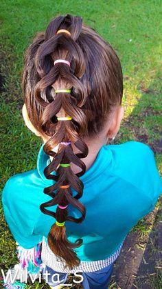 Peinado para niña fácil / Easy harstyle for girls ❤ - Kids Hairstyles Flower Girl Hairstyles, Little Girl Hairstyles, Braided Hairstyles, Cool Hairstyles, Kids Hairstyle, Short Thin Hair, Long Hair Cuts, Childrens Hairstyles, Popular Short Haircuts