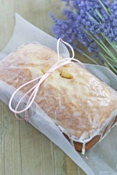 Lavender Loaf with Lemon Glaze is a simple & special treat for brunch or dessert. Definitely going to be serving for Easter brunch!